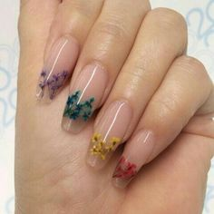 The Dried Flower Nail Art Designs can be created on fingernails of any appearance and width, and can be adapted to any blush combination and any textural flower pattern. Dried Flower Nail Art Designs is the best acceptable, because flowers are the s Cute Acrylic Nails, Gel Nail Art, Acrylic Nail Designs, Cute Nails, Pretty Nails, Nail Art Designs, My Nails, Nails Design, Flower Nail Designs