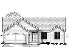 Traditional Style House Plans - 1489 Square Foot Home, 1 Story, 3 Bedroom and 2 3 Bath, 2 Garage Stalls by Monster House Plans - Plan 21-214...