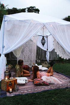 ideas for festival camping diy Diy Party Tent, Diy Tent, Teepee Tent, Festival Camping, Outdoor Spaces, Outdoor Living, Outdoor Decor, Camping Diy, Camping Gazebo