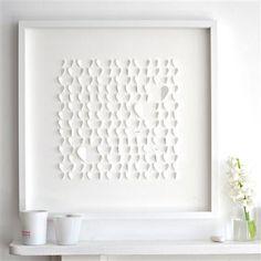 Sarah & Bendrix - White Hearts, Framed Papercut, 50 x 50cm