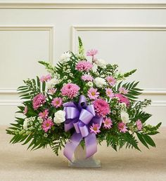 1800Flowers - Tribute Lavender & White Floor Basket Arrangement - Small - http://yourflowers.us/?p=1055