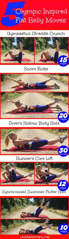 After watching the 2016 Summer Olympics I couldn't help but create this fun sport-inspired core workout for a flat belly! Burn calories and the belly fat! http://www.lauramakfitness.com/5-olympic-inspired-core-moves-for-a-flat-belly/ Please be sure to share with your friends and RE PIN :)