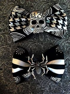 Rockabilly Skull and Spider Hair Bows
