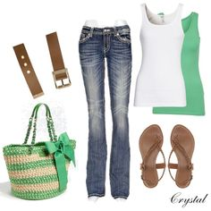 Green Bow Purse :) and cute clothes and everything with it too love it!!!