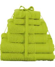 color verde lima lime green towels bathroom accessories