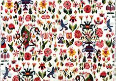 traditional swedish fabric: Lejondröm