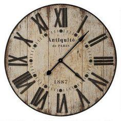 Antiquité Wall Clock from Urban Barn Giant Wall Clock, Best Wall Clocks, Urban Barn, Farmhouse Clocks, Urban Farmhouse, Rustic Clocks, Farmhouse Style, Oversized Clocks, Kitchen Clocks