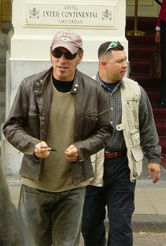 Bruce at Intercontinental Hotel with his bodyguard