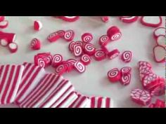 (TUTO) Christmas candy cane fimo / polymer clay - YouTube