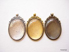 1 set Large Oval Cameo Base with Glass Cabochon Antiqued Bronze / Antqiued Silver / Antiqued Gold 40x30mm B1257  https://www.etsy.com/listing/253398627/1-set-large-oval-cameo-base-with-glass?ref=shop_home_listings
