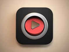 I like how the red part of the app looks like the new youtube app icon and makes us think this app is a video player. Ar