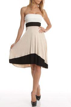 Colorblock Tube Dress