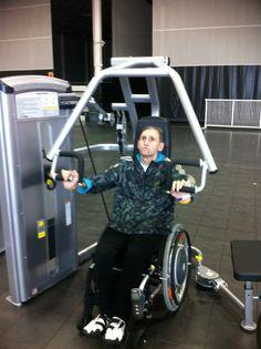 Sebastian training hard at Sports Performance Pro (SPP).