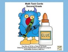 This is a great way to offer your Second Graders  practice and review in an important Common Core math skill. Task cards are great for individual practice, early finishers, and class practice. This collection has 64 task cards to practice ordering three-digit numbers.