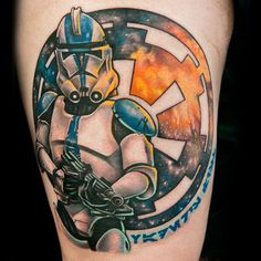 One of the best Star Wars tattoos I've ever seen! Done by Sarah from Season 2 Ink Mastaa! #inkmaster #starwars #clonetrooper