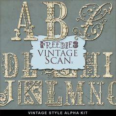 Awesome:  FREE Vintage Printables -- alphabets, florals, clipart, etc.