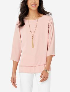 Drapey Layered Blouse from THELIMITED.com