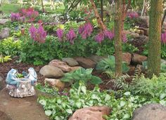 100_1708 Shade Garden,Landscape Design, Hosta, Astible,Lamium, Landscaping, Rock Garden, Gardens, Perennials | Flickr - Photo Sharing!