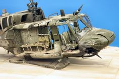 "Diego Quijano Scaleworks: The ""Huey Down"" work: Italeri 1/72."