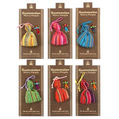 Buy Worry Dolls in Bag at competitive prices at Something Different Wholesale. Worry Dolls, No Worries, Charmed, Stuff To Buy, Bags, Handbags, Bag, Totes, Hand Bags