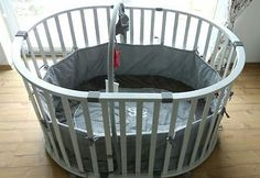 Playpens & Play Yards Baby New Roba Rock Star Baby Hexagonal Wooden Playpen White And Grey