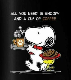 SNOOPY & WOODSTOCK~ COFFEE TIME