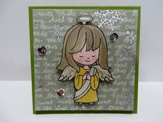 """Stampin' Up Christmas Cuties water colored 3""""x3"""" card created by Lynn Gauthier using Stampin' Up Christmas Cuties Stamp Set. Go to lynnslocker.blogs... to see more details about this project."""