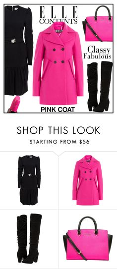 """""""Pretty Pink Coats"""" by letiperez-reall ❤ liked on Polyvore featuring Rochas, Dorothy Perkins, MICHAEL Michael Kors, Urban Decay, polyvoreeditorial, polyvorecontest, pinkcoats and polyvorefashion"""