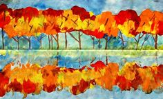 Trees at the waterfront