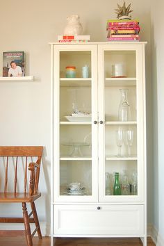 This is just what I would like for our home, perfect to display all the decoratives that are put away. White curio case/buffet