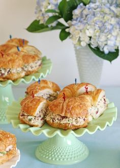 Sandwiches for baby showers | often make these Chicken Salad Sandwiches for parties. The chicken ...