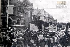 Efemérides INEHRM. 7 de junio de 1911. Entrada triunfante a la ciudad de México, de Francisco I. Madero. Tras el triunfo militar de los maderistas y la firma de los Tratados de Ciudad Juárez el 21 de mayo de 1911, a los pocos días el general Porfirio Díaz renunció a la presidencia de la República y se dirigió al puerto de Veracruz rumbo al exilio.