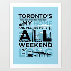 Toronto's My Home City Poster Art Print by Kinnon Elliott Illustration & Design - $15.00 Poster Prints, Art Prints, Toronto, Design Inspiration, Illustration, Baby, Art, Art Impressions, Illustrations