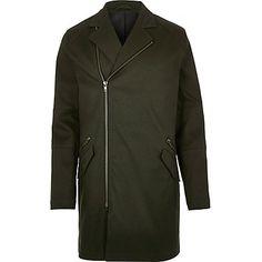 Dark green military mac coat $100.00