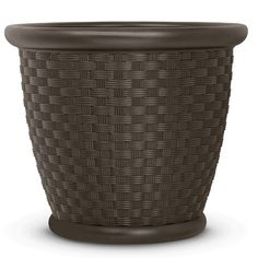 The Suncast Sonora resin planter will make a beautiful addition to any home or patio. Sonora resin planter is intended for small plants and arrangements. This durable planter will hold up to any weather Wicker Planter, Wicker Shelf, Wicker Table, Wicker Furniture, Wicker Baskets, Planter Pots, Wicker Trunk, Wicker Mirror, Wicker Dresser