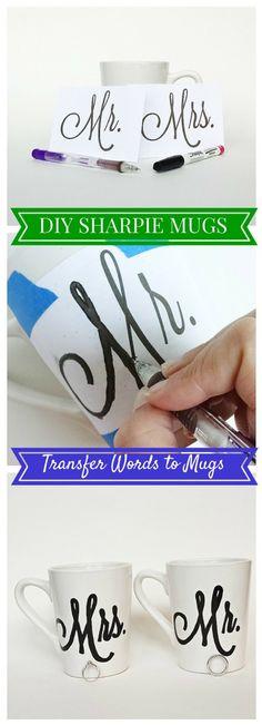 Transferring Words to Sharpie Mugs