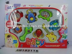 NM193116Eco-friendly material Baby rattle plastic toy /Baby toys8pcs/set