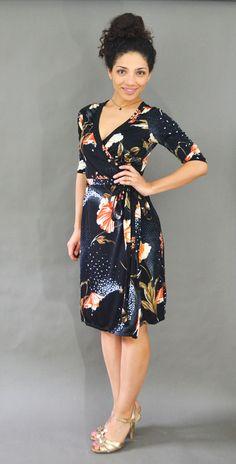 The Rachel Wrap Dress in Vintage Fabric | Jasika Nicole