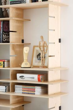 Customized shelving but awesome and easy to replicate...