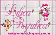 Monograma completo aqui: http://dinhapontocruz.blogspot.com.br/2015/01/monograma-lilica-ripilica.html