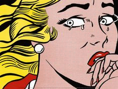 Crying Girl, c.1963 Art, Roy Lichtenstein   Paintings Art Picture