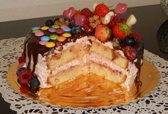 Torta s jahodovou penou a ovocím - obrázok 7