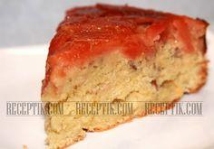 Миндальный пирог с айвой