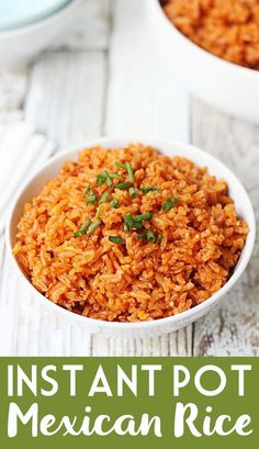 Easy Instant Pot Mexican Rice Easy Instant Pot Mexican Rice -- Instant Pot Mexican rice is easier than you think! This recipe starts with simple ingredients and ends with moist, flavorful rice impossible to resist! Mexican Rice Recipes, Rice Recipes For Dinner, Instant Pot Dinner Recipes, Mexican Cooking, Healthy Mexican Rice, Mexican Rice Cooker Recipe, Cooked Rice Recipes, Instant Pot Pressure Cooker, Pressure Cooker Recipes