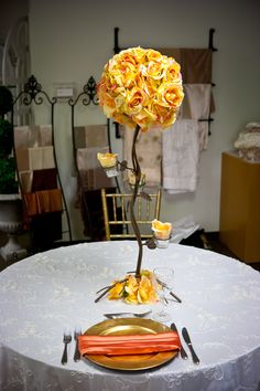 Gold, Yellow, and Saffron. #yyceventrentals #yycweddings #weddingdecor www.greateventsrentals.com