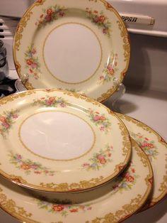 Noritake Japan Topaze 653 Dinner Plates Set of 4 by Visualaromas & Antique Noritake China Patterns | Vintage Noritake Fine Porcelain ...
