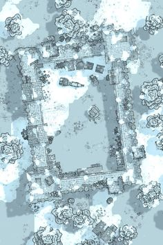 Dnd World Map, Fantasy World Map, Snow Map, Fantasy Rpg Games, Icewind Dale, Map Sketch, Rpg Map, Dragon Rpg, Drawn Art
