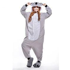 Kigurumi Pijamas New Cosplay® / Coala Malha Collant/Pijama Macacão Festival/Celebração Pijamas Animal Cinzento Miscelânea Lã Polar de 1410820 2016 por R$54,05