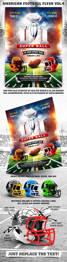 American Football Flyer | Pinterest | American football, Flyer ...