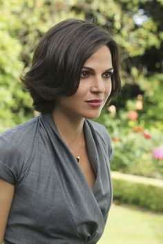 Regina from Once Upon a Time. I love her hair style. I think I am going to try this style next.